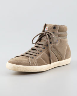Moncler Lyon Suede High-Top Sneaker