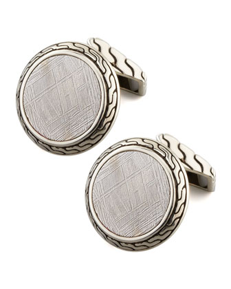 Batu Classic Chain Round Cuff Links