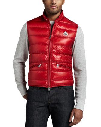 Gui Puffer Vest, Red