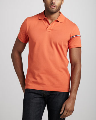 Flag-Sleeve Polo, Orange