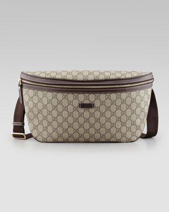 GG Supreme Belt Bag, Beige/Brown