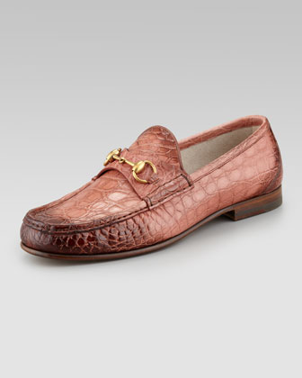 Crocodile Horsebit Loafer