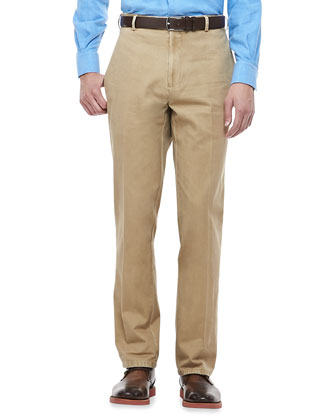 Antique-Wash Twill Pants