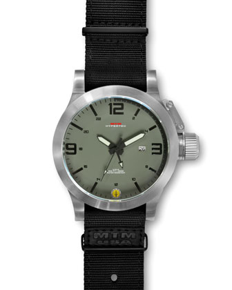 Silver Hypertec Military Tactical Watch, Green