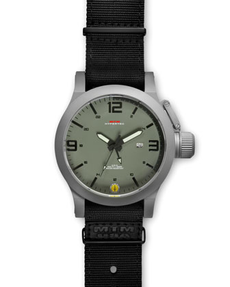 Gray Hypertec Military Watch, Green/Black