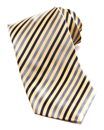 Striped Silk Tie, Yellow