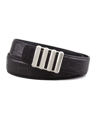 Crocodile Belt, Black