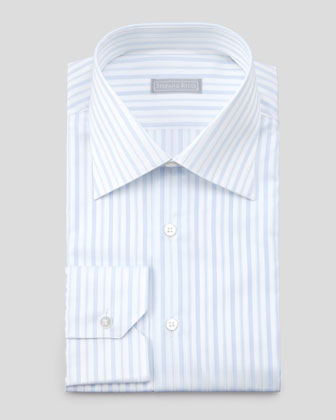 5x2 Tonal-Stripe Dress Shirt, Light Blue