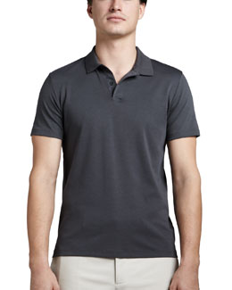 Theory Harbin Pima Polo Shirt, Gray