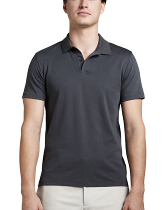 Harbin Pima Polo Shirt, Gray