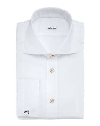 Twill French-Cuff Dress Shirt