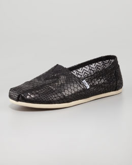 TOMS TOMS+ Black Serpentine Classic Slip-On