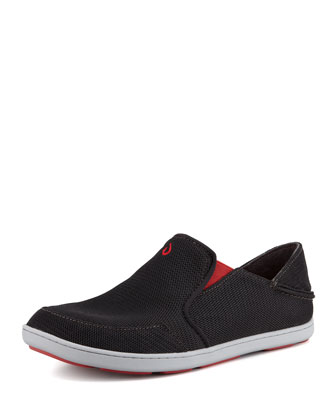 Nohea Mesh Slip-On Sneaker, Black