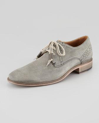 Brogue-Trim Suede Shoe
