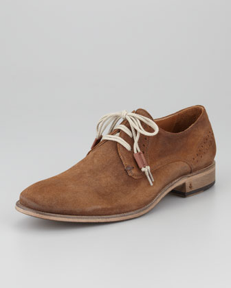 Nubuck Perforated Derby Shoe