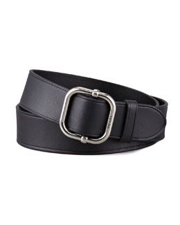 Prada D-Ring Leather Belt