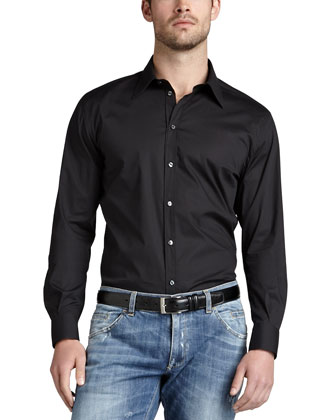 Stretch-Cotton Sport Shirt