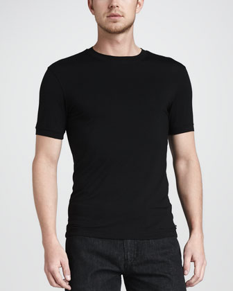 BLK STRETCH VISC TEE