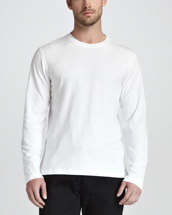 Soft Touch Long-Sleeve Tee, White