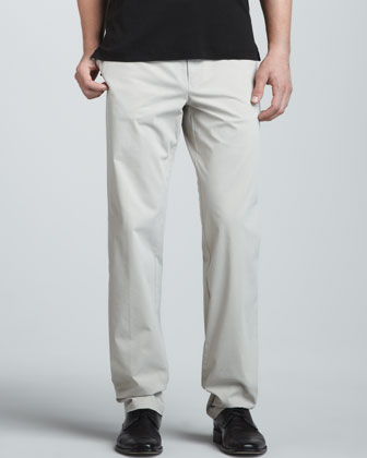Flat-Front Coolmax Stretch Twill Pants