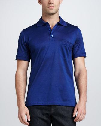 Classic Pique Polo, Blue