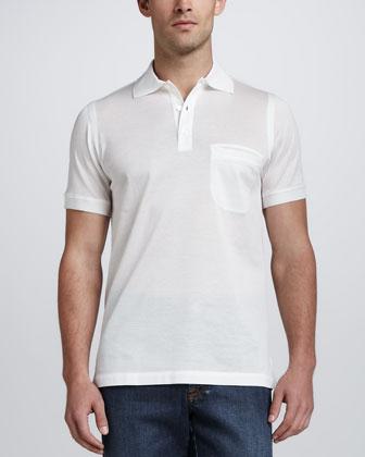 Pique Classic Polo, White