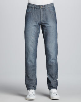 Robert Graham Nail-Head Five-Pocket Classic Fit Jeans, Indigo