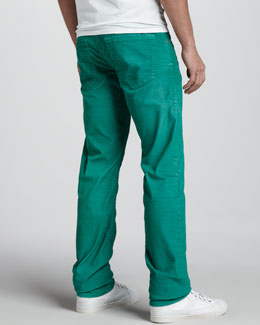 True Religion Geno Slim Corduroy Pants, Kelly Green
