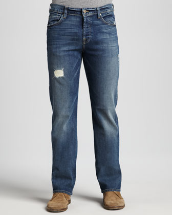 Standard Straight Jeans, Light Blue