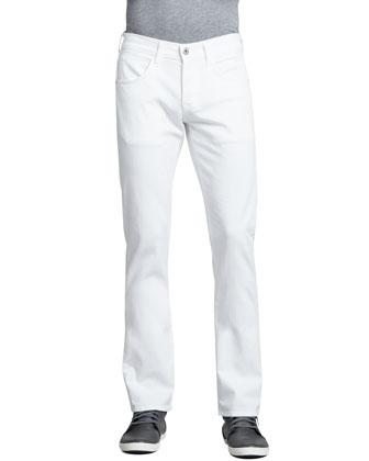 Byron Straight Leg Jean, White