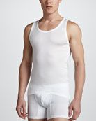 Cotton Pure Tank Top, White