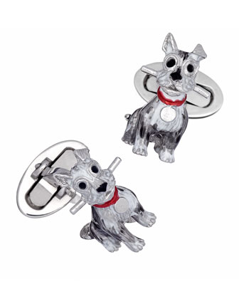 Schnauzer Dog Cuff Links