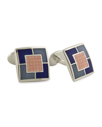 Multi-Square Cuff Links, Pink