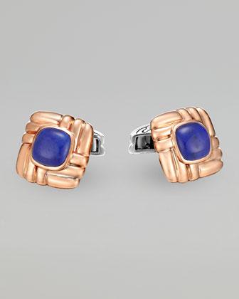Bedeg Lapis Lazuli Square Cuff Links