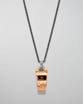 Palu Whistle Pendant Necklace
