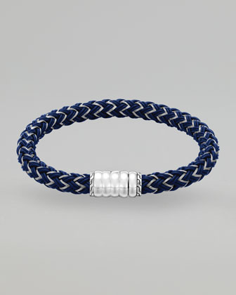 Bedeg Men's Nylon Cord Bracelet, Blue