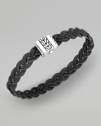 Classic Chain Dark Stainless Steel Braided Bracelet