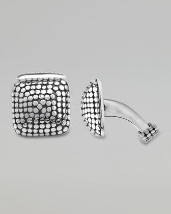 Dot Square Dome Cuff Links
