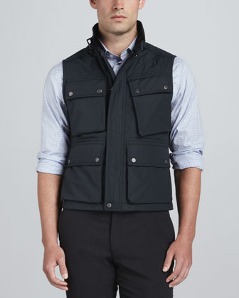 Quilted Snap-Pocket Vest