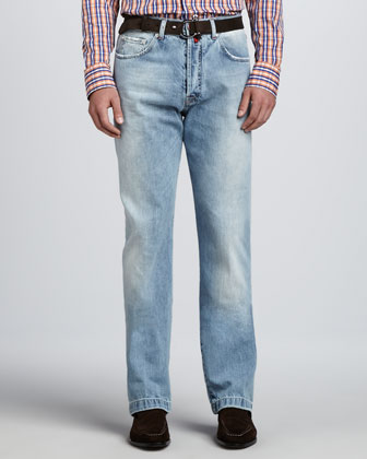 Faded Five-Pocket Jeans