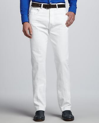 Five-Pocket Jeans, White