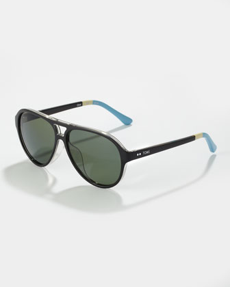 Marco Enamel Sunglasses, Black