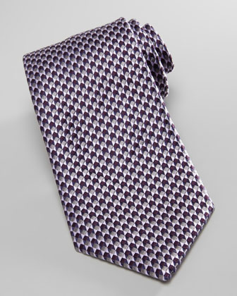 Cube-Neats Silk Tie, Purple