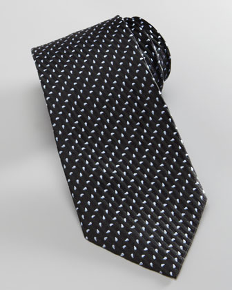 Diagonal Stripes & Neat Tie, Black