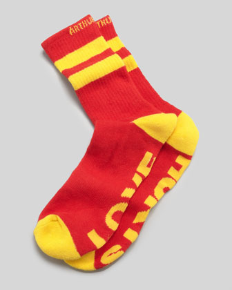 Love Hurts Men's Socks, Red/Yellow