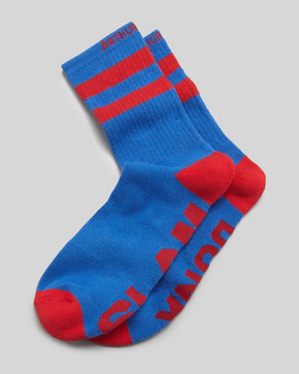 Slam Dunk Men's Socks, Red/Blue