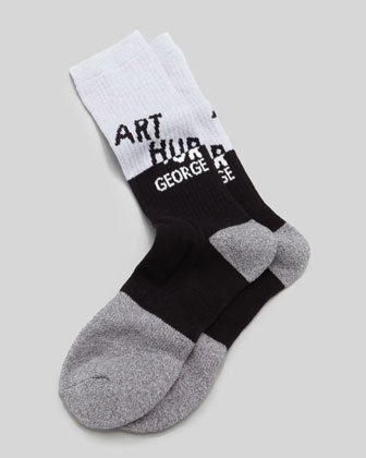 AG Swag Men's Socks, Black/Gray