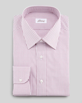Box-Check Dress Shirt, Red