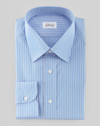 Track Striped Dress Shirt, Blue