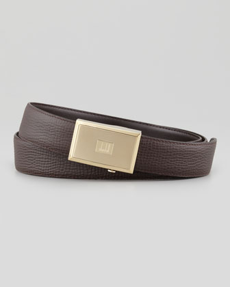 Pebbled Automatic-Buckle Belt